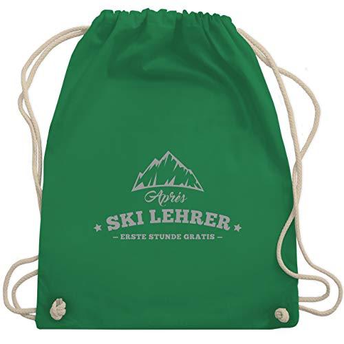 Après Ski - Après Ski Lehrer - Stunde Gratis - Unisize - Grün - WM110 - Turnbeutel & Gym Bag (Ski Lehrer Kostüm)