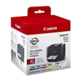 Canon PGI-2500XL 4 original Tintenpatrone Schwarz/Cian/Magenta/Gelb für Maxify Drucker MB5050-MB5150-MB5155-MB5350-MB5450-MB5455-iB4050-iB4150