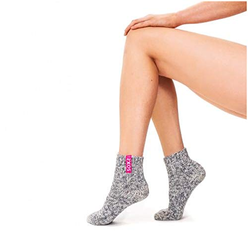 Soxs - Woman - Wollsocke/kurz - Bubble Gum - grau - 60% Wolle - / 40% Polyamid - Größe:42-45 -