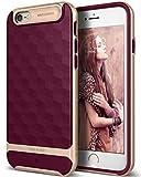 Caseology iPhone 6S Hülle, [Parallax Serie] Schlank Doppelte Schutz Haftung Dank Textur geometrischem Design [Burgund - Burgundy] für Apple iPhone 6S (2015) & iPhone 6 (2014)