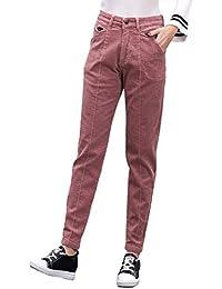 ba220153d2 LXIANGP Pantalones de Las Mujeres Cintura Alta Estiramiento Pantalones  Harem Casual Pantalones de Pana de Gran tamaño Sexy pies…