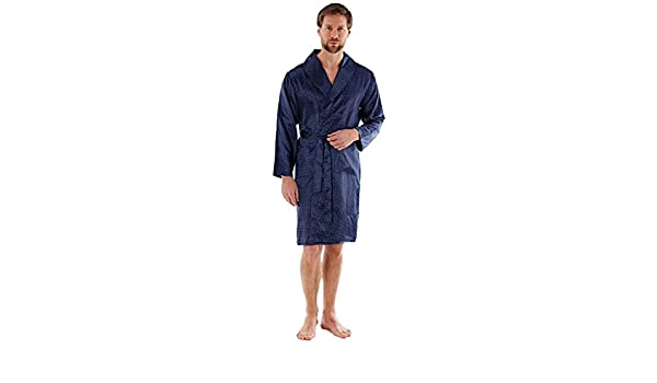 Leggero Lusso Kimono in Raso con vestibilit/à Wrap M L XL 2XL Harvey James