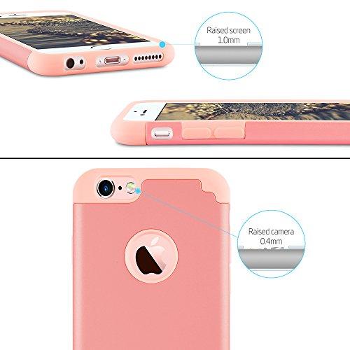 iPhone 7 Plus Cases, Case Cover duplice ibrido per iPhone 7 Plus 5,5 Plus pollici. Cover duro per iPhone 7 Plus PC+ Silicone ibrido impatto grande Difensore custodia Combo duro morbido Cases Covers,Ne Rosa-iPhone 6/6S