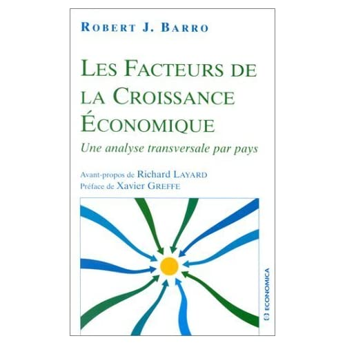 Les facteurs de la croissance économique de Robert J. Barro (2000) Broché