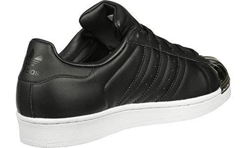 adidas Superstar Metal Toe, Sneakers Basses Femme core black-core black-ftwr white