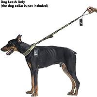 OneTigris - Collare tattico per addestramento cani con manico di controllo a sgancio rapido, in nylon