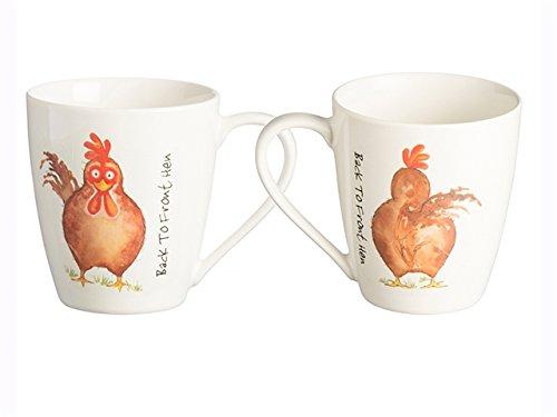 Price & Kensington arrière vers l'avant Blanc Porcelaine Fine Mug Poule