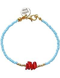 Smilla Brav Armband LEANDRA aus Korallen und hellblauen Rocailles MM10