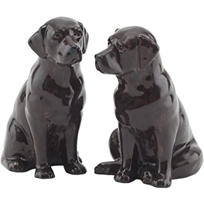 Quail Ceramics - Chocolate Labrador Salt And Pepper Pots by Quail Ceramics