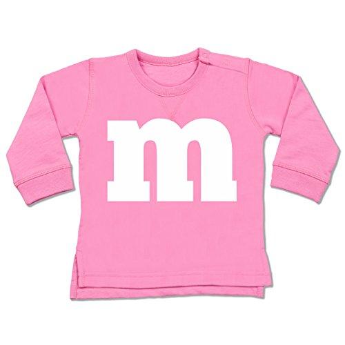 Shirtracer Karneval und Fasching Baby - Gruppen-Kostüm m Aufdruck - 6-12 Monate - Pink - BZ31 - Baby Pullover (8 Von Gruppen Kostüme Für)