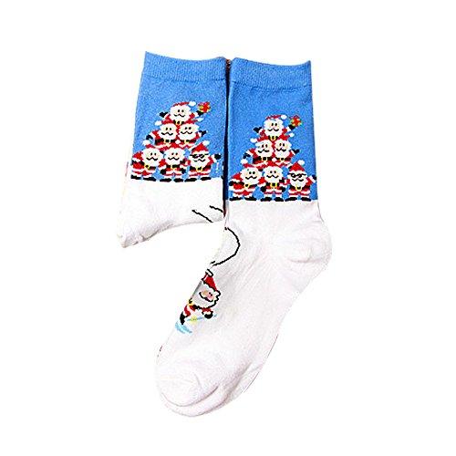 Junjie Weihnachten Socken,Herren & Damen Sneaker Socken Kurze -