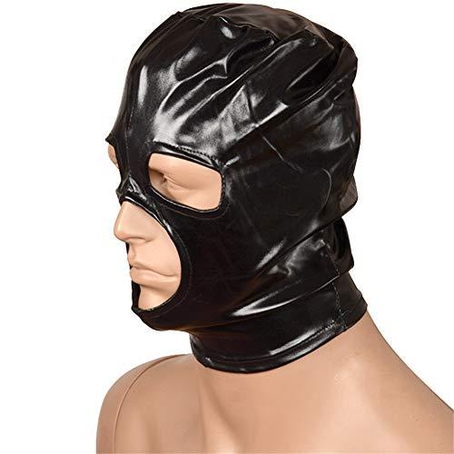 Maske Unisex Haube, Atmungsaktive Hauben Gesichtsschutz Schwarze Augenbinde Kopfmaske Spandex Kostüm Haubenmaske für Damen und ()