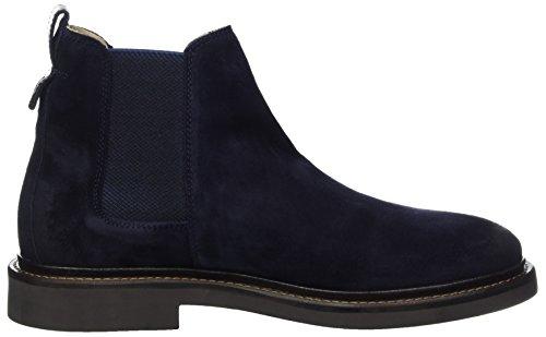 Marc O'Polo Flat Heel 70824105001304, Chelsea Boots Homme Bleu Marine