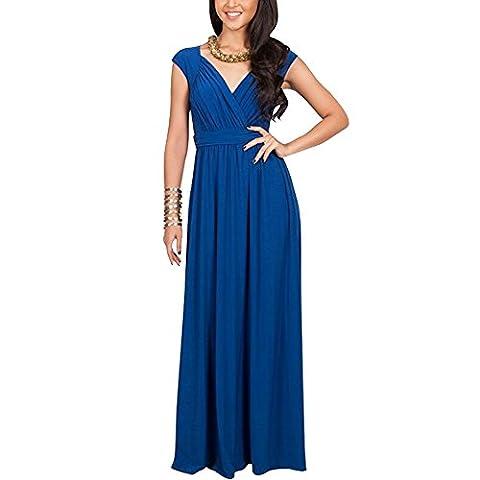 Monsme - Robe - Moderne - Femme - bleu - XL