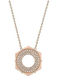 Swarovski 5073124 - Collar de acero inoxidable con cristal (45 cm)