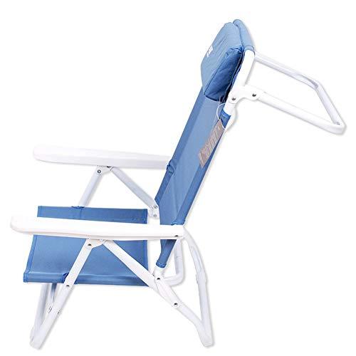 DOKJ Campingstuhl,Aluminium-Klappstuhl mit ultraleichtem Loungesessel, mit Kopfstützenverstellung Liegestuhl, Tragfähigkeit bis 150 kg für Garten/Reise/Outdoor