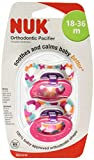 Nuk Orthodontic Trendline BPA Free 18+ Months Dots Pacifiers (2pack) Girls Colors by NUK