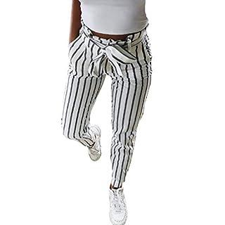 Luckycat Damen beiläufige gestreifte hohe Taillen Hosen elastische Taillen beiläufige Hosen Damenmode 2018
