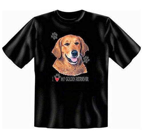 Golden Retriever T-Shirt Hunde Motiv Fb schwarz Schwarz