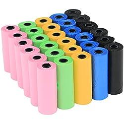 YOMMY® Bolsas para excrementos de perro 40 Rollos Total 600 Bolsas Poop Bag para Perro Mascotas Animales Domésticos YM-0293(600, Multicolor)