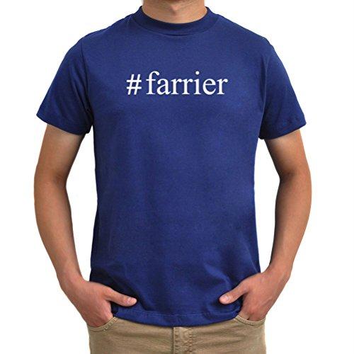 Maglietta #Farrier Hashtag Blu acciaio