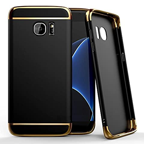 Gr8 value Ultra-thin 3in1 clip on and off Metal Texture Plastic Hard Back Case Cover Skin for various Samsung phones (Samsung galaxy A3, 2017