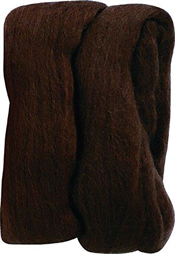 Clover 7931 Natur-Filzwolle 20 g, braun