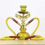 TcooLPE Elegante cachimba, Khalil Mamoon KM Shisha Hookah Cafe Style Shisha egipcia Genuina (Color : B)