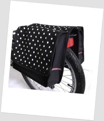 T-JOY-37 Fahrradtasche JOY dots little 4 white Kinderfahrradtasche Satteltasche Gepäckträgertasche 2 x 5 Liter KINDER