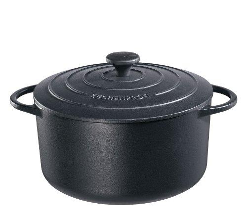 Küchenprofi Provence Bratentopf, Rund, Gusseisen, Schwarz