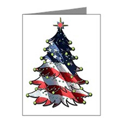 CafePress - Patriotische Weihnachten, 5 x 7 - Notizkarten, matt, 20 Stück