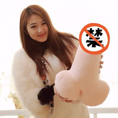 (Mjia pillow Plüschkissen,Eine Geburtstagsparty für Männer oder Ein lustiges und Erotisches Geschenk für Jeden Anlass,B,60cm)