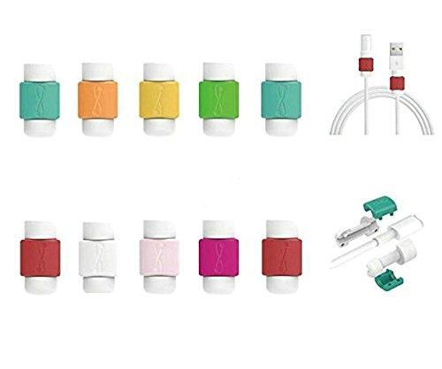 dreamtop 10x Kabel Saver Displayschutzfolie Unterstützung für Apple iPhone Lightning Kabel zufällige Farbe