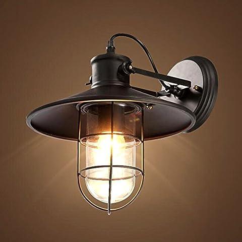 Schwarz Retro Industrie Eisen Wandleuchte Einstellbar Vintage Wandlampe Passend Küchen