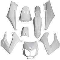 Type origina - Kit completo de carenado, color blanco brillante para moto Derbi 50 Senda de 1994 a 2010