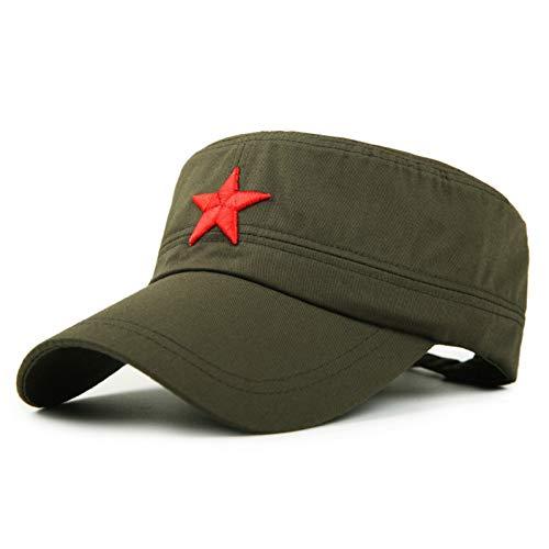 CXKNP Baseball Cap Heißer Vintage Unisex Frauen Männer Patrol Müdigkeit Armee Kappe Stoff Einstellbare Red Star Sun Beiläufige Kappe Hut - Baumwolle Müdigkeit Cap