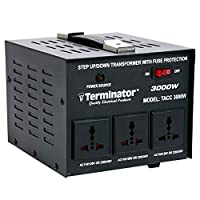 محول كهرباء من ترمينيتور - أسود، 3000 واط - TACC3000W