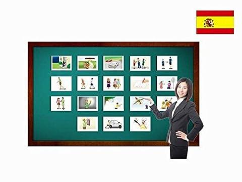 Bildkarten zur Sprachförderung in Spanisch - Verben - Tarjetas de vocabulario - Verbos compuestos 1