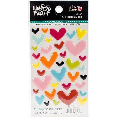 bella-blvdillustrated-faith-she-stickers-adesivi-motivo-fiori-a-forma-di-cuore-smaltati-altri-multic