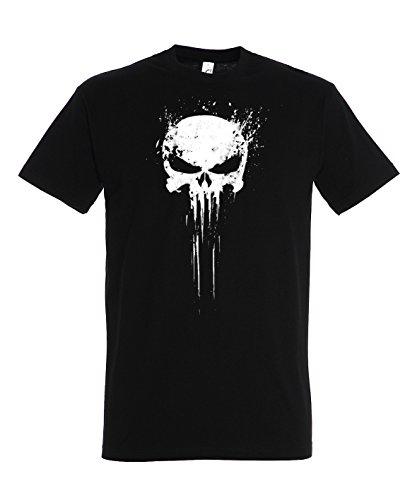 Herren T-Shirt Modell Punisher, Schwarz, 5XL (Shirts Marvel 5xl)