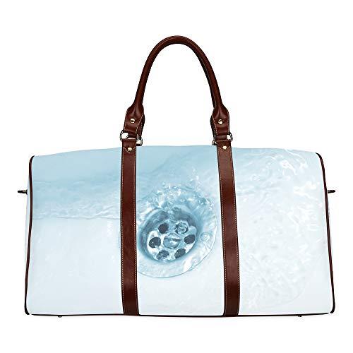Reisetasche Blick auf den sehr bequemen Wasser-Whirlpool wasserdichte Weekender-Tasche Reisetasche Damen Damen-Einkaufstasche Mit Mikrofaser-Leder-Gepäcktasche