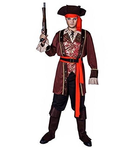 Sea Hare Abiti per adulti di lusso uomo costume pirata