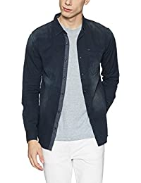 Spykar Men's Solid Slim Fit Denim Casual Shirt