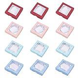 nbeads 12Karton Armband Boxen, für Armband und Armreif, quadratisch, gemischte Farbe, 9x 9x 2cm