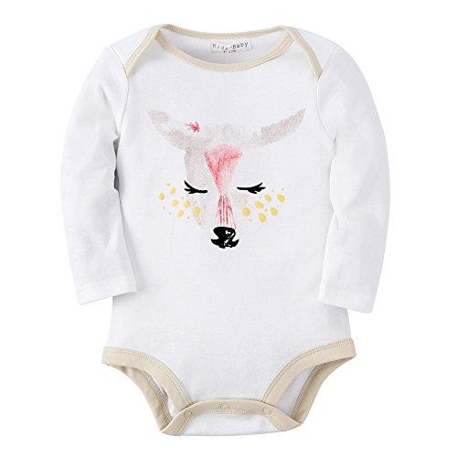 ngarm Body Baumwolle Wickelbody Strampelhöschen (0–6 Monate, R13 DEER) (Kindern Passende Weihnachts Pyjamas)