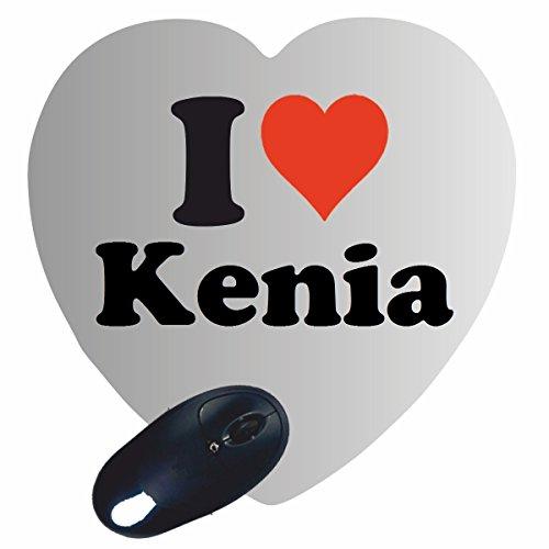 """Exklusive Geschenkidee: Herz Mauspad """"I Love Kenia"""" eine tolle Geschenkidee die von Herzen kommt- Rutschfestes Mousepad- Weihnachts Geschenktipp"""