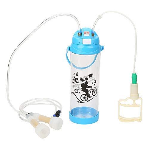 Fdit Tragbare elektrische 3L Melkmaschine Doppelkopf tragbare Plastik Melker Zitzenschalen Kits für Schafziege -
