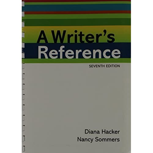 Writer's Reference: Writing in the Disciplines, 7th Edition 7th edition by Hacker, Diana, Sommers, Nancy (2011) Paperback