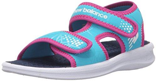 New Balance Sport 2 Strap Adjustable Sandal (Infant/Toddler/Little Kid/Big Kid), White/Blue, 10 M US Toddler White/Blue
