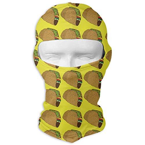 Aeykis Yellow Taco Windproof Gesichtsmaske Atmungsaktiv für Radfahren Skifahren Wintersport - Indian Hut Mädchen Für
